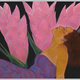 Pegge Hopper THREE GINGER, 8X10 PRINT ON PAPER WITH BACKING