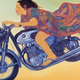 Pegge Hopper FLYING TITA, 11X14 PRINT ON PAPER WITH BACKING