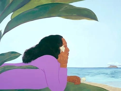 Pegge Hopper WALK ACROSS THE SEA B, 8X10 PRINT ON PAPER WITH BACKING