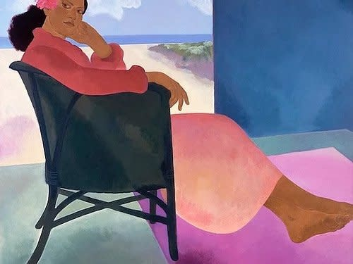 Pegge Hopper LANIKAI AFTERNOON, 8X10  PRINT ON PAPER WITH BACKING