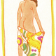 Pegge Hopper SUMMER '79 (TOWEL), 11X14 SIGNED PRINT ON PAPER WITH BACKING