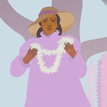 Pegge Hopper LEI STAND KAPALUA, 12X12 PRINT ON PAPER WITH BACKING