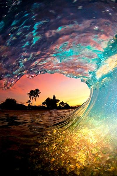 Clark Little Photography RAINBOW SHAVE ICE - 20X30 ALUMINUM PRINT