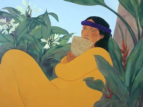 Pegge Hopper WALK ACROSS THE SEA A #130/195 CANVAS GICLEE WITH FLOATER FRAME