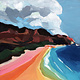 Almeda Art ART PRINT, 12X12: WESTSIDE RAINBOW
