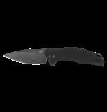 ZT ZT MODEL 0357BW FOLDING KNIFE, BLACK G10