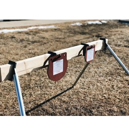 DOMINION OUTDOORS AR500 STEEL 2X4 TARGET STAND SET, W/ CONDUIT LEG BRACKETS & TWO 2X4 HOOKS, 3/8""