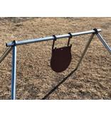"""STEEL TARGETS AR500 STEEL CONDUIT TARGET STAND SET, W/ LEG BRACKETS & TWO HOOKS, 3/8"""""""