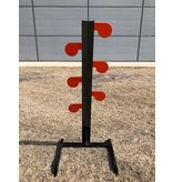 """DOMINION OUTDOORS AR400 STEEL RIMFIRE TARGET DUELING TREE, 1/4"""", 4"""" PADDLES, COATED"""