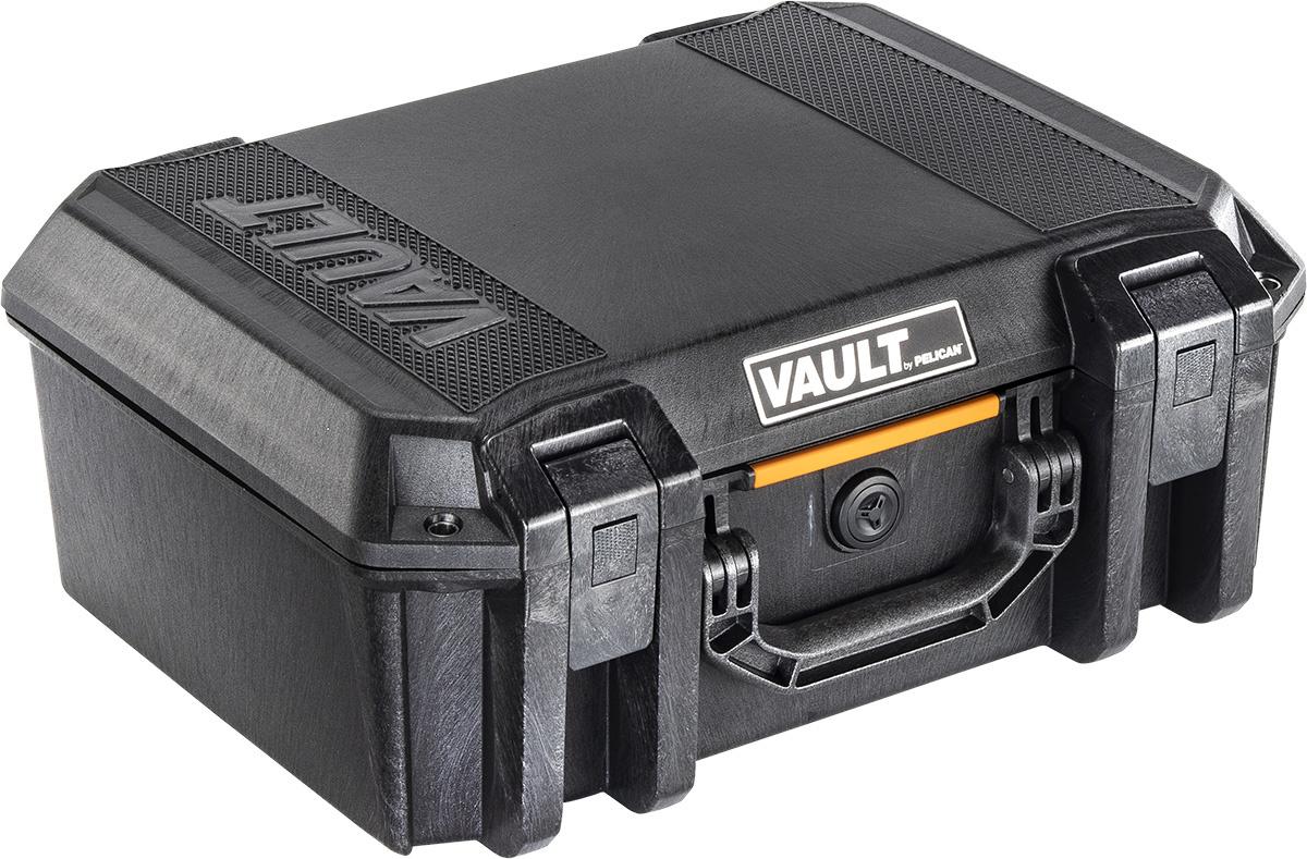 PELICAN PELICAN VAULT V300 PISTOL CASE, BLACK, W/ FOAM