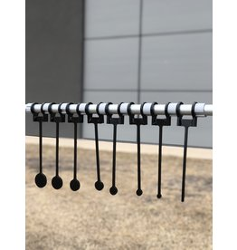 """DOMINION OUTDOORS AR500 RIMFIRE TARGET SET, KNOW YOUR LIMITS, 3/8"""", 8 TARGETS, .25-2"""", W/ CROSSBAR"""