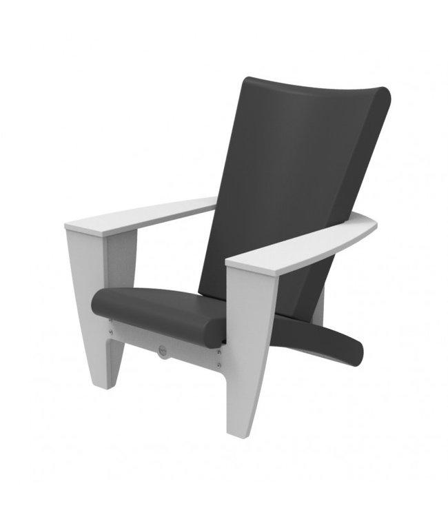 Twist Chair, Cozi White Frame w/ Grey