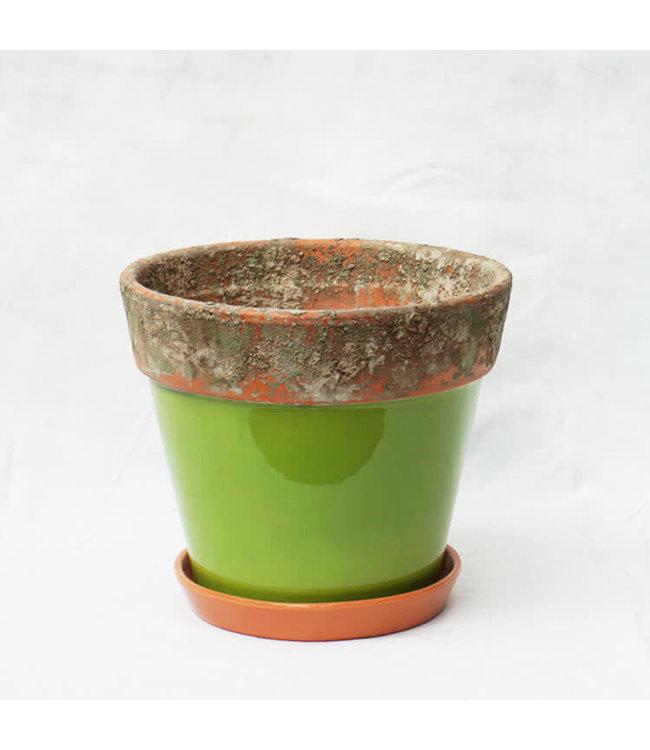 Pot, Green Terracotta 13cm