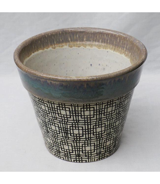 Pot, Grey Pattern 10 in