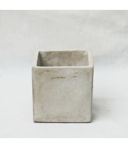 Potcover, Cement Cube 4 in