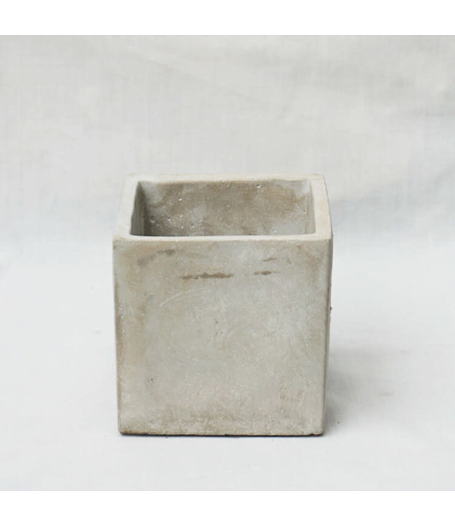 "Potcover, Cement Cube 4"""