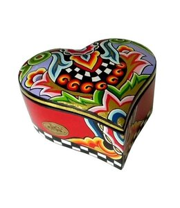 Keepsake Box, Heart Red