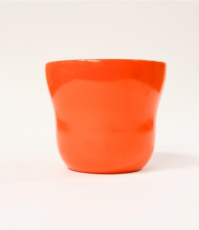 """Potcover, Orange Taper 5"""""""