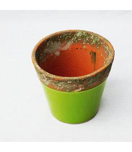 Pot, Green Terracotta 9cm