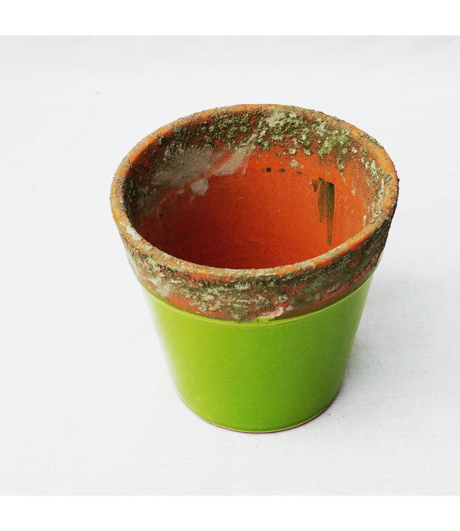 Pot, Green Terracotta 19cm