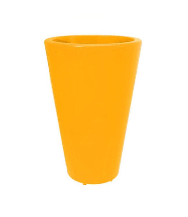 Twist Pot Folia 20in Yellow