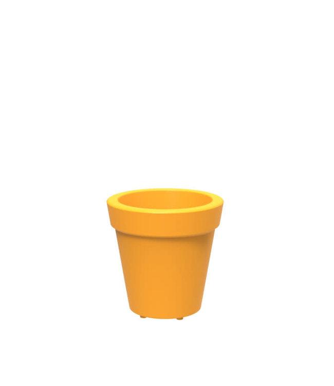Twist Pot Tera  14in Yellow