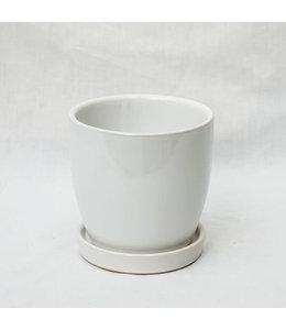 Pot, White 7in w/s
