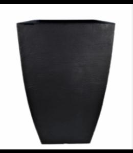 Planter, Modern Square Black 14.5x14.5x21 in