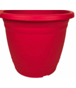 Planter, Round, Red 13 in