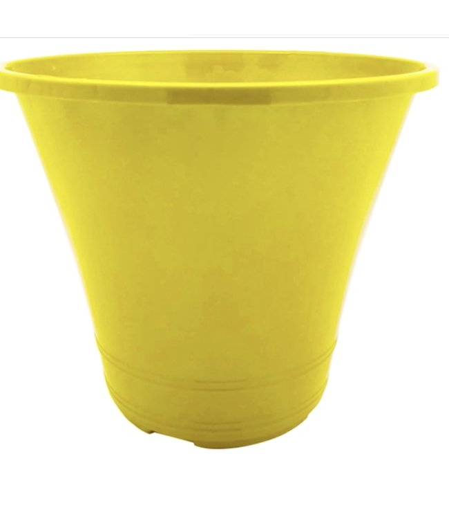Planter, Flare Yellow 10 in