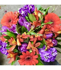 Red and Purple Blooms, Bouquet