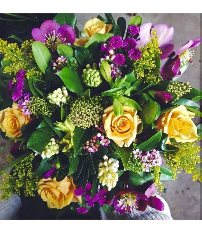 Purple and Yellow Blooms, Bouquet