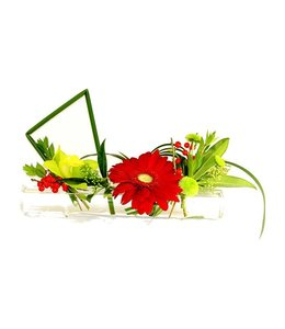 Floral Arrangement, Low Bud Vase