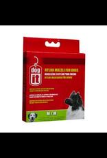 """DOG IT Dogit Nylon Dog Muzzle, Black, Medium,14 cm/5.5"""""""