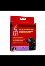 """DOG IT Dogit Nylon Dog Muzzle, Black, XLarge,21.5 cm/8.5"""""""