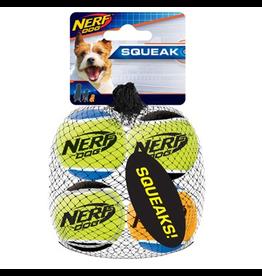 NERF Nerf Dog Squeak Tennis Balls, 4pk, X-Small, 1.75in