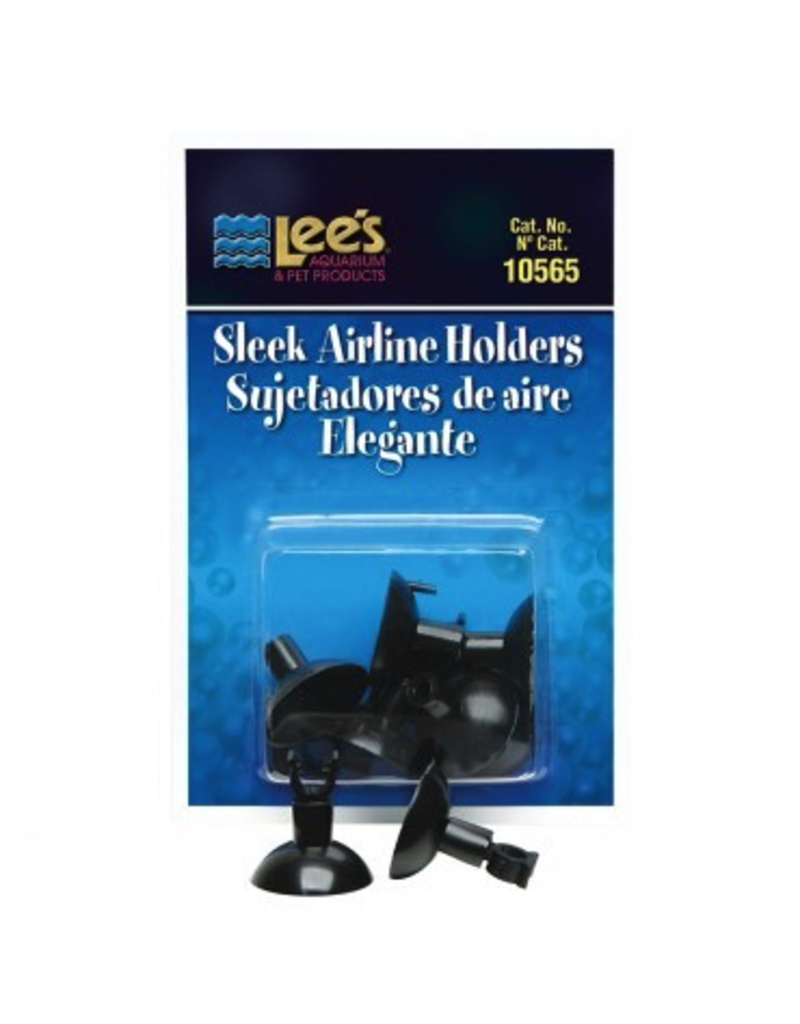LEES Sleek Airline Holders - Black - 6 pk