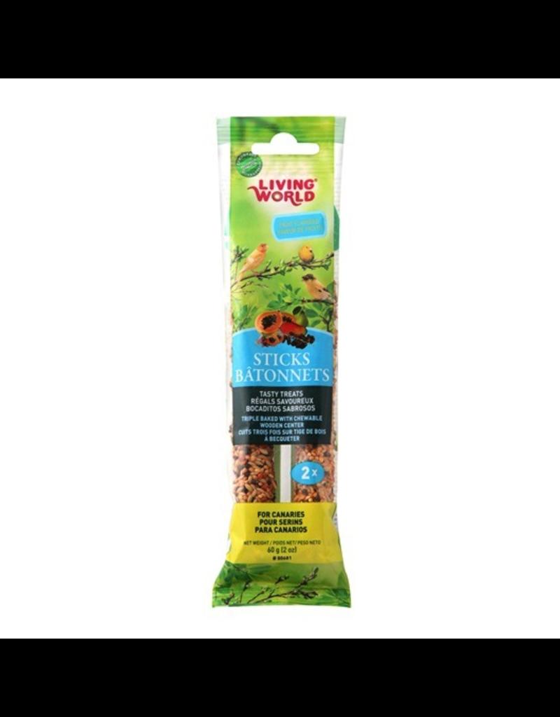 LIVING WORLD Living World Canary Sticks - Fruit Flavour - 60 g (2 oz), 2-pack