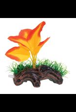 UNDERWATER TREASURES Orange Broad Leaf Mini Log