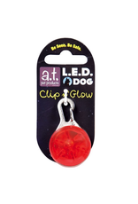 A.T. PET PRODUCTS AT LED DOG TAG RED