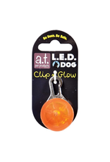 A.T. PET PRODUCTS (W) AT LED DOG TAG ORANGE