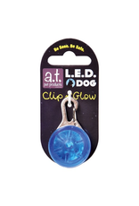 A.T. PET PRODUCTS AT LED DOG TAG BLUE