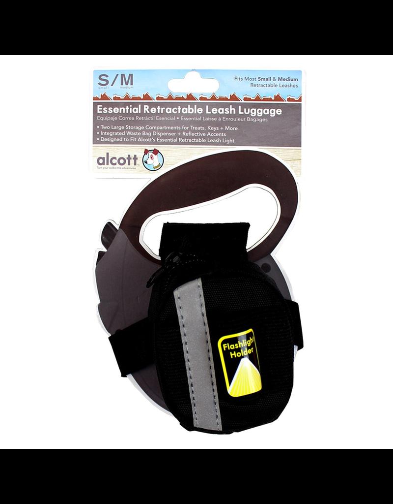 ALCOTT (W) Essentials Retractable Leash Luggage - Black - Small
