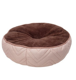 (D) DreamWell Bed - Round - Beige/Brown - 50 cm dia (19.5 in)