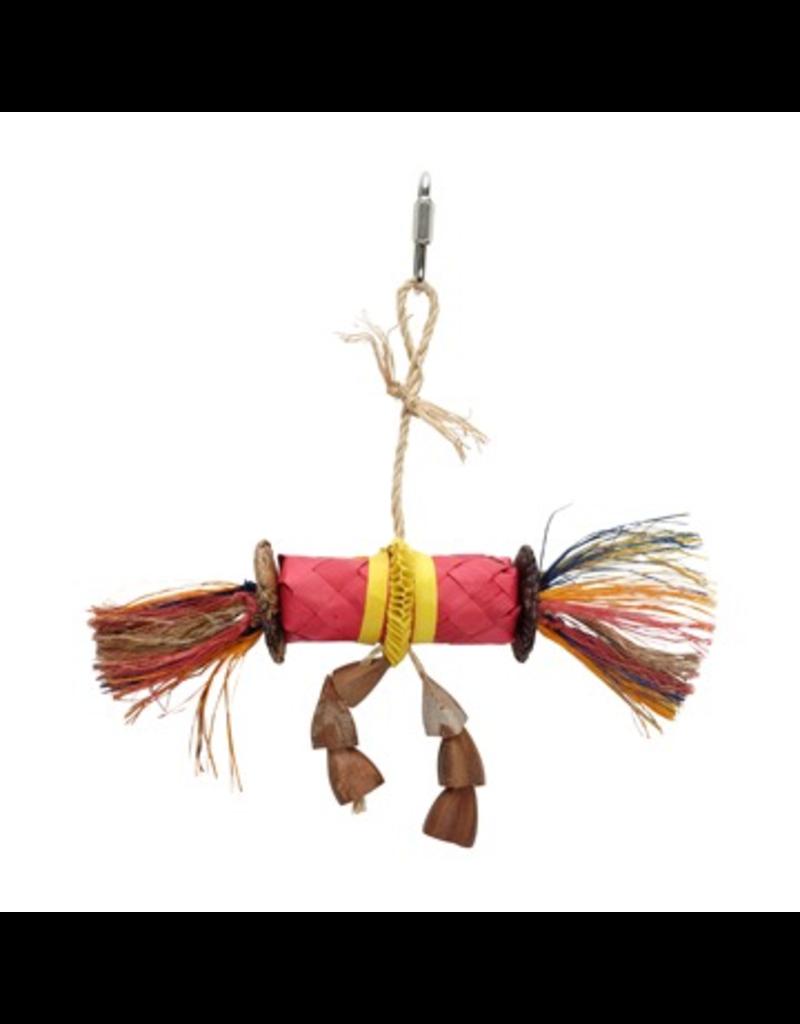 HARI (D) HARI Rustic Treasures Bird Toy Buri Wrap Color - Small