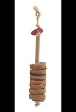 LIVING WORLD (D) Living World Nature's Treasure Bird Toy Coco Husk Discs For small and medium hookbills