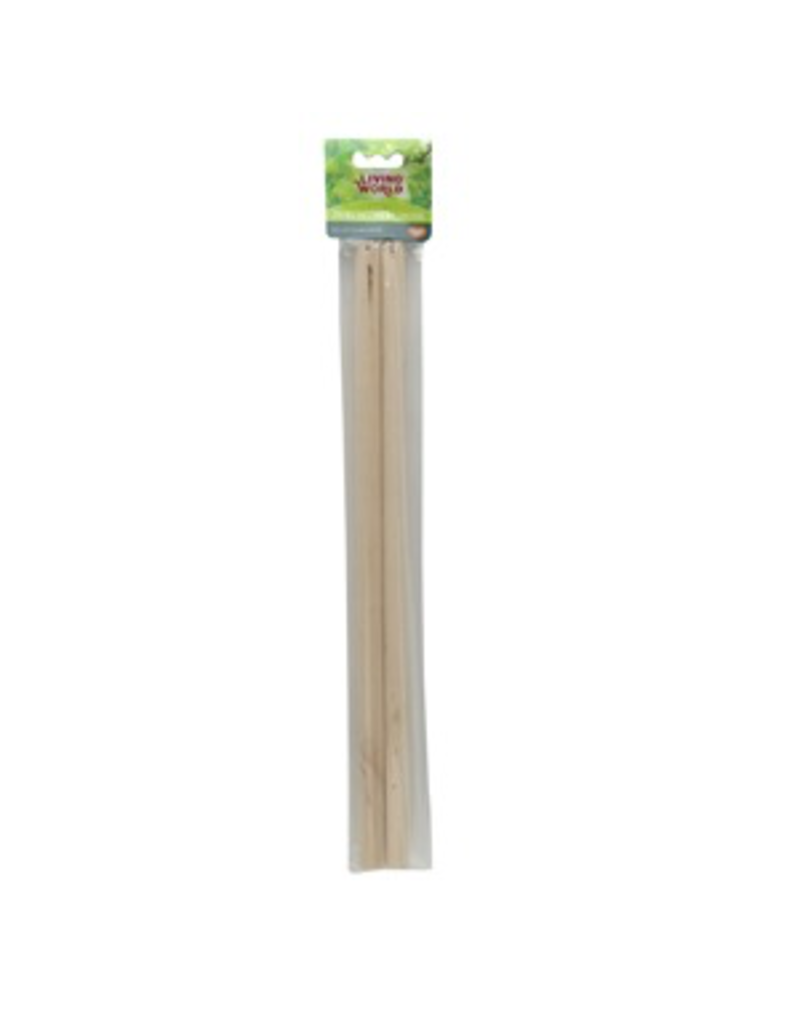 LIVING WORLD Living World 2 Wooden Perches - 43 cm (17 in) - 2 pack