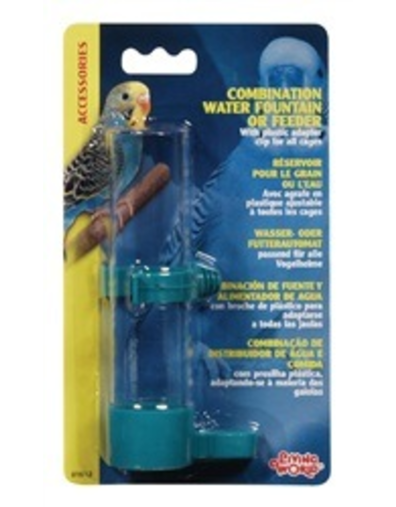 LIVING WORLD LW Combination Water or Seed Feeder,Lg-V