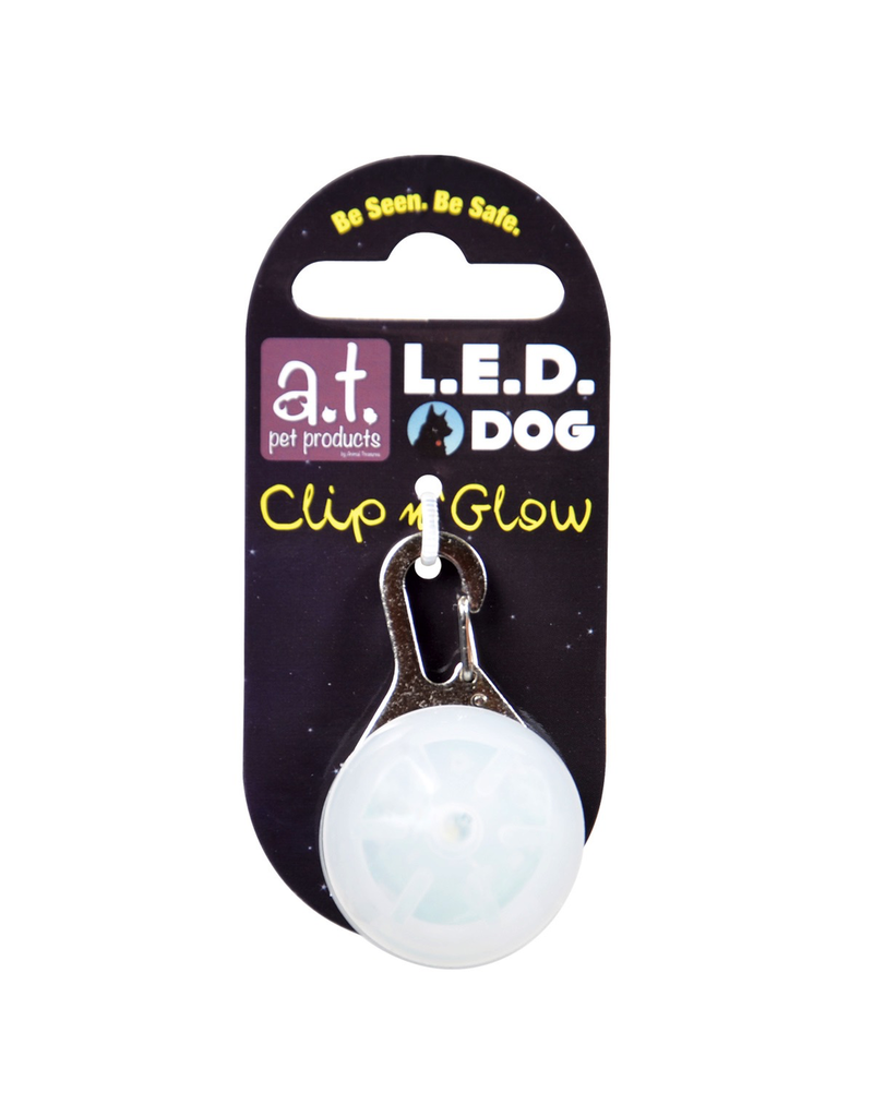 A.T. PET PRODUCTS (P)  LED DOG TAG WHITE