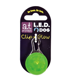 A.T. PET PRODUCTS (W) AT LED DOG TAG GREEN